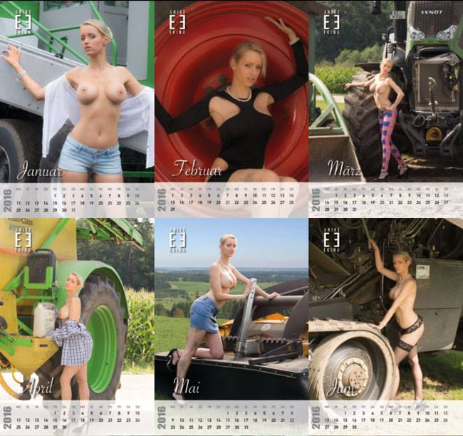 Anike Ekina Landmaschinen Kalender 2016
