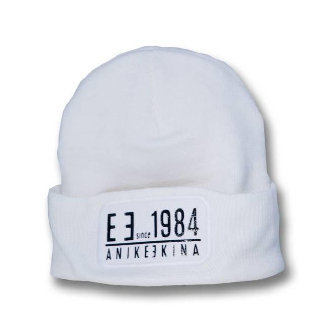 Anike Ekina Beanie Mütze - weiß/schwarz - 1984 - unisex