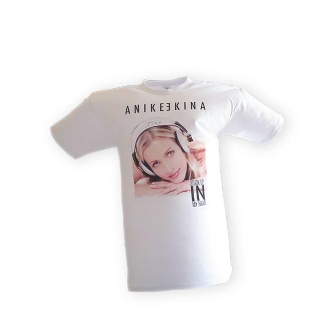 STUCK UP IN MY HEAD T-Shirt Uni weiss - Anike Ekina
