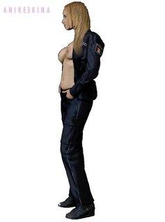 Anike Ekina - Sexy Police Girl topless