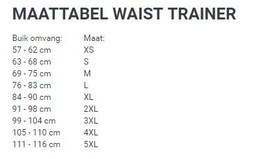Waist trainer 6 haaks - Zwart