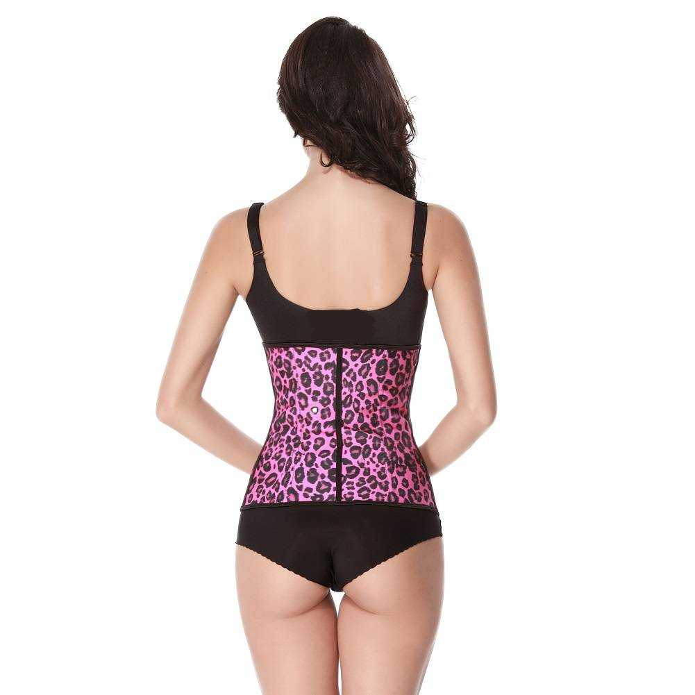 Latex waist trainer - roze luipaard