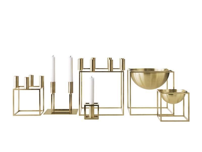 by Lassen Kubus 4 Kandelaar Brass