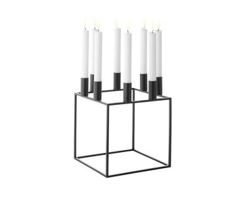 By Lassen Kubus 8 Candle Holder Black