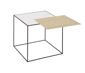 By Lassen Twin 42 Table Oak/White