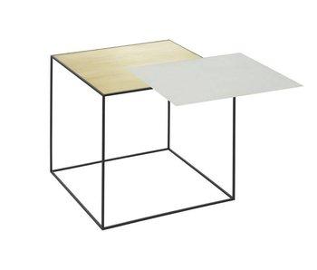 By Lassen Twin 42 Table Misty Green/Brass