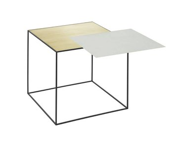 by Lassen Twin 42 Tafel Mistgroen/Brass