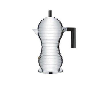 Alessi Pulcina Coffee Maker 6-kops Zwart