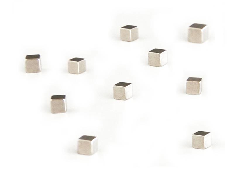 Trendform Kubiq Magnet Zilver 10 pcs.