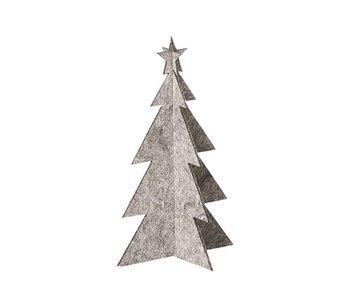 Lübech Living Oohh Xmas Kerstboom Grijs 25 cm