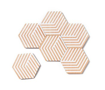 Areaware Table Tiles Optic Wit 6 pcs.