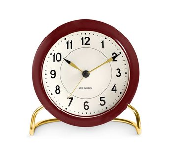 Arne Jacobsen Station Alarm Clock Dark Red
