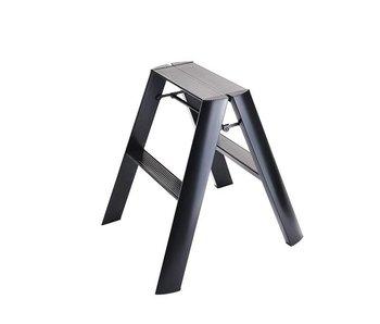 Hasegawa Lucano ML 2 Step Ladder Black