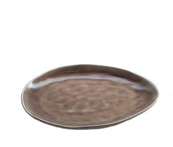Serax Pure Ovaal Bord Bruin 20 cm