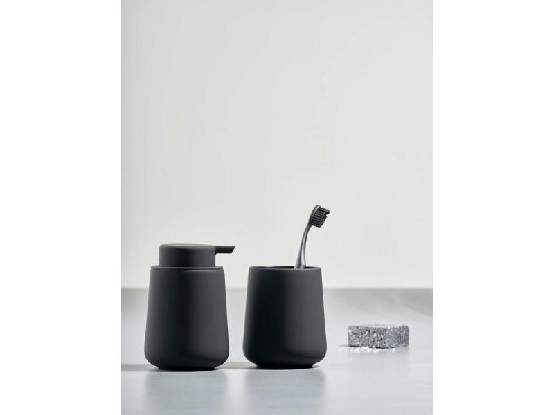 zone denmark nova one soap dispenser black online shop matriks. Black Bedroom Furniture Sets. Home Design Ideas