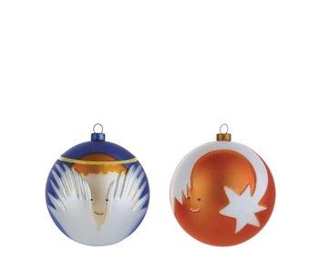 Alessi Set van 2 Kerstballen Angioletto & Stella Cometa