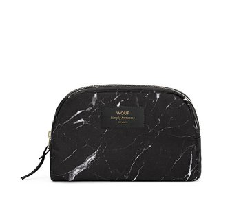 Wouf Black Marble Large Beauty Bag
