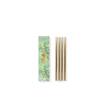 W&P Design Metal Straws Brass Small 4 pcs.