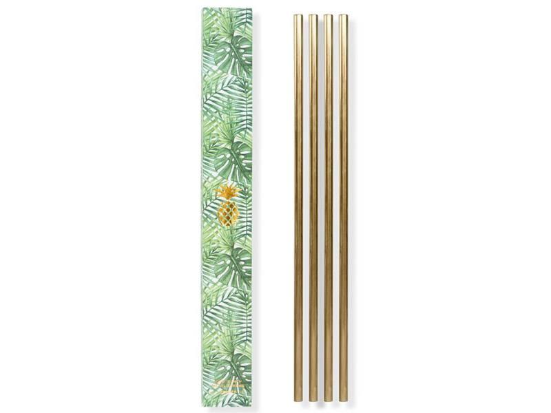 W&P Design Metal Straws Brass Large 4 pcs.