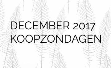 December Koopzondagen 2017