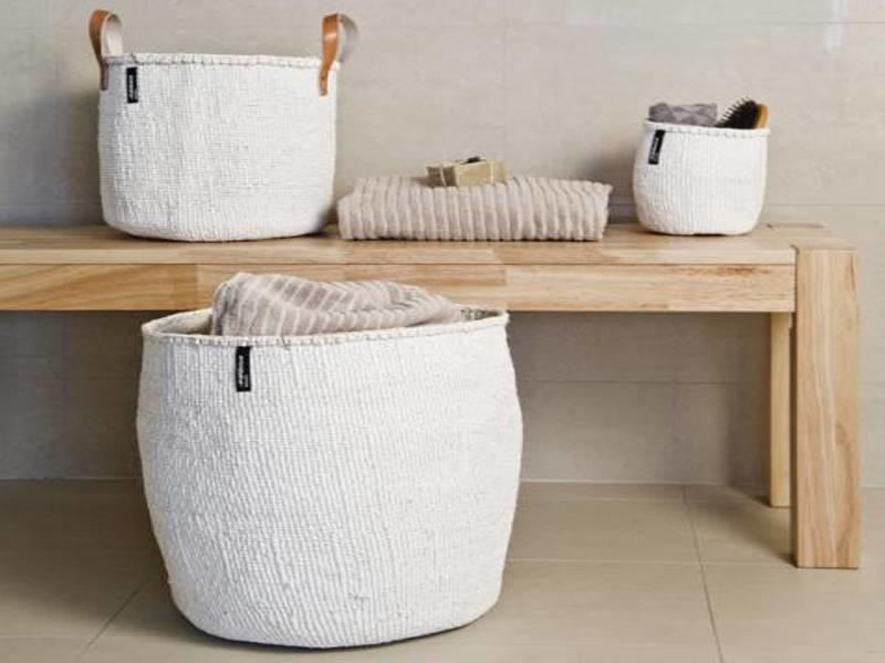 Mifuko Kiondo Basket S Grey/White