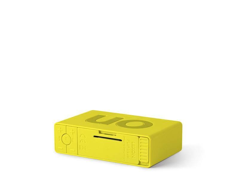 Lexon Flip Travel Alarm Clock Light Yellow