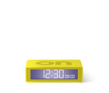 Lexon Flip Travel Alarm Clock Light Yellow