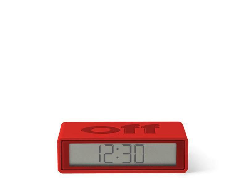 Lexon Flip Travel Alarm Clock Red