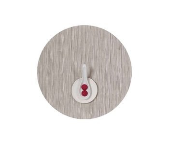 Chilewich Placemat Round Bamboo Chalk