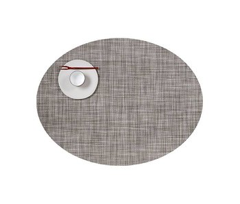 Chilewich Placemat Oval Mini Basketweave Gravel