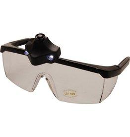 BGS technic BGS technic 3631 Lupen Schutzbrille mit LED-Beleuchtung verstellbare Bügel