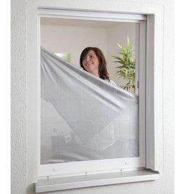 CULEX Sonnenschutz Fliegengitter für Fenster 130x150cm anthrazit/silber 100240105-CU