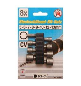 Kraftmann 67308 Steckschlüsselsatz für Bohrmaschinen 5-13mm