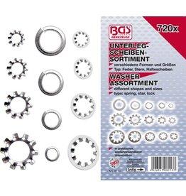 BGS technic BGS technic 8113 Unterlegscheiben Sortiment ca. 3-10mm verschiedene Typen 720tlg