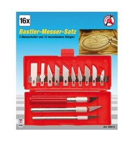 Kraftmann Kraftmann 50613 Bastler-Messer-Satz Bastelmesser 16tlg in Kassette