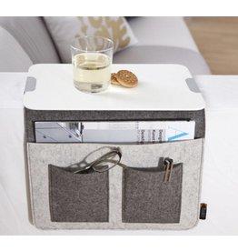 Home & Garden Sofa Butler Carry mit 4 Taschen und Ablageplatte grau 201040222-HE