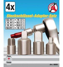 Kraftmann Kraftmann 8808 Steckschlüssel Adapter Satz 4tlg CV für Stecknüsse