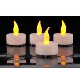 HI LED Teelichter 4er Set weiss gelbe flackernde LED inkl. Batterien 55020
