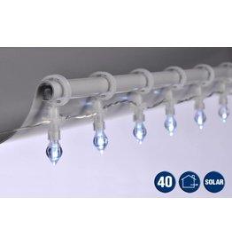 Solar Lichterkette Solarlichterkette Regentropfen 40 LEDs Länge 4,9m 76069