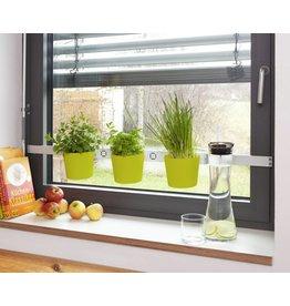 Kräuter- und Pflanzenleiter für Fenster von 72,5-111,5cm grün 200240109-HE