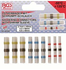 BGS technic 85220 Lötverbinder mit Schrumpfschlauch 9tlg 2,7-4,5-6,8mm