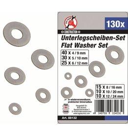 Kraftmann 88132 Unterlegscheiben Sortiment 130tlg verzinkt 4-5-6-8-10-12mm