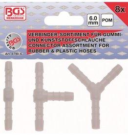 BGS technic BGS technic 8790-6 Kunststoff Verbinder kraftstoffbeständig für Schläuche 8tg 6mm