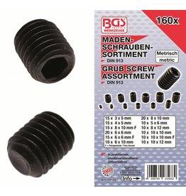 BGS technic 14135 Madenschrauben Sortiment 160tlg in Kassette