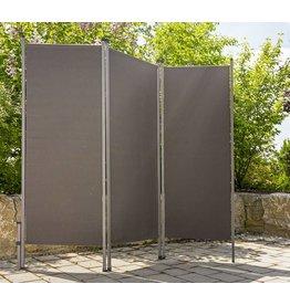 Home & Garden Paravent Sichtschutz Sonnenschutz Trennwand 170x170cm anthrazit 302240107-HE