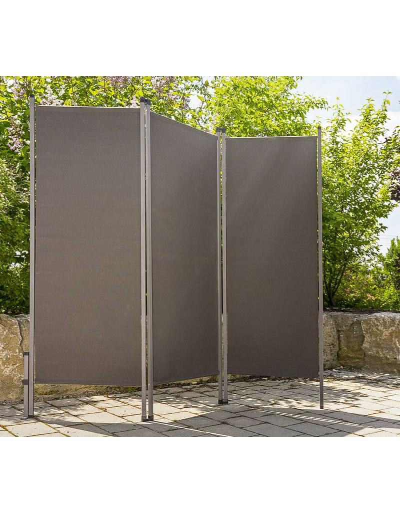 Paravent Sichtschutz Sonnenschutz Trennwand 170x170cm Anthrazit