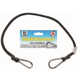 Kraftmann 85505 Gepäckspanner Gepäckgurt Gepäckband 80 bis 140cm mit 2 Alu-Haken