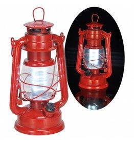 HI Sturmlaterne Laterne Campinglaterne aus Metall mit LED Beleuchtung dimmbar 70030