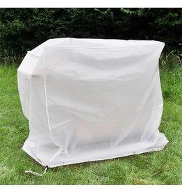 Schutzhülle Abdeckung Hülle für Grill Grillwagen 90x60x115cm weiss 61058