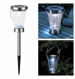 HI Solarlampe Solarleuchte 2er Set als Wege- Tisch oder Hängeleuchte 70298